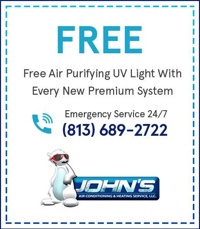 Free Air Purifying UV Light With Every New Premium System